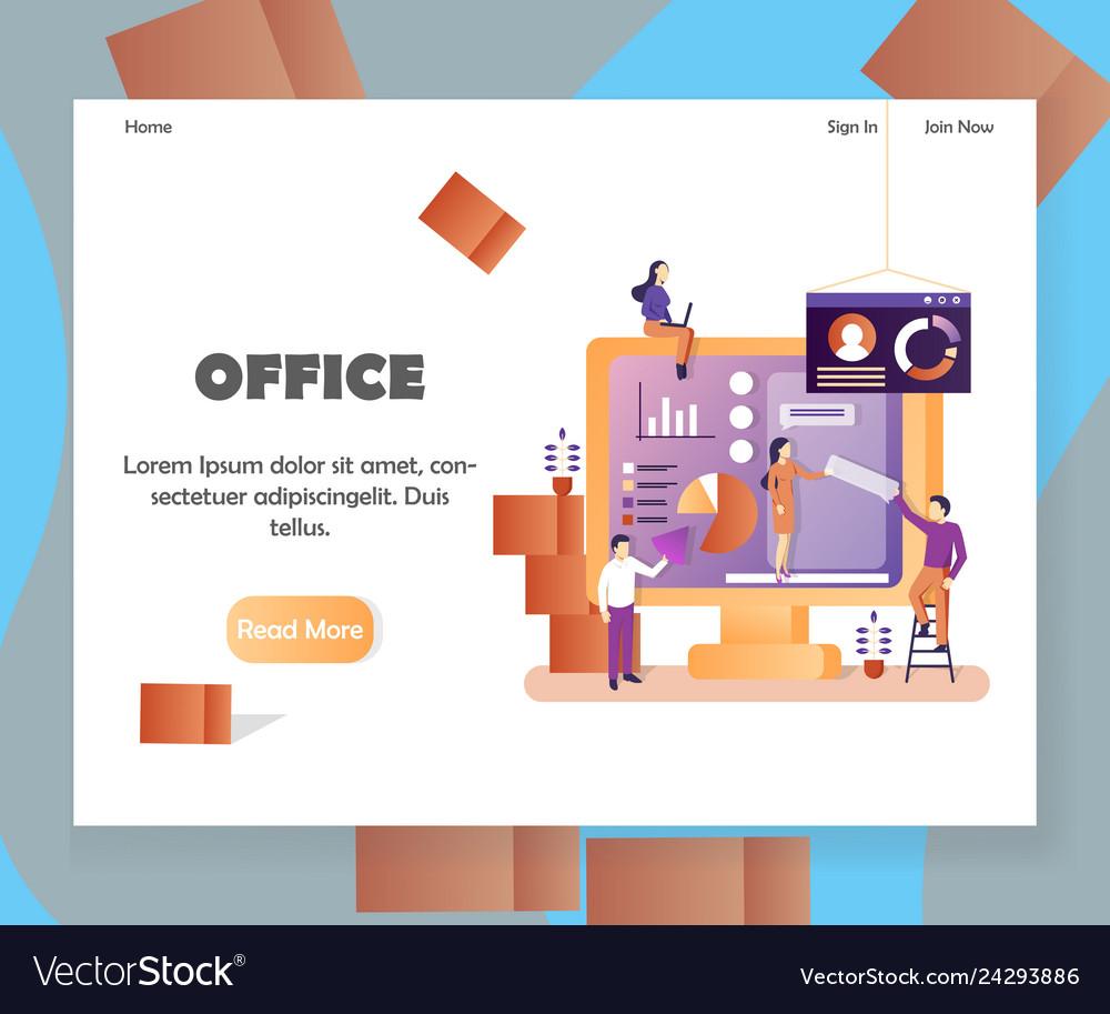 Office website landing page design template