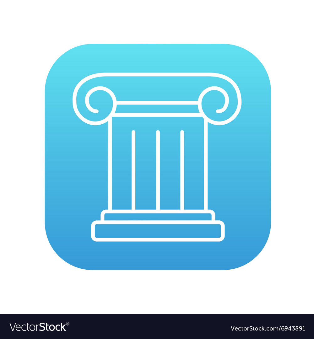 Ancient column line icon