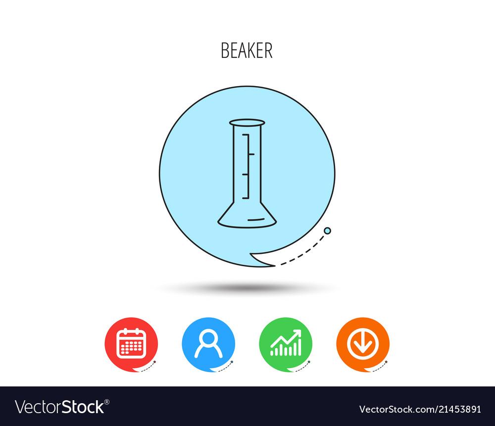 Beaker icon laboratory flask sign