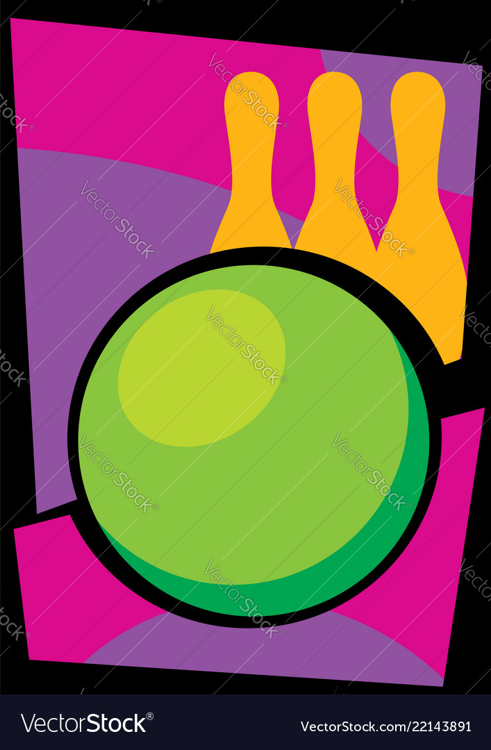 Bowling abstract background