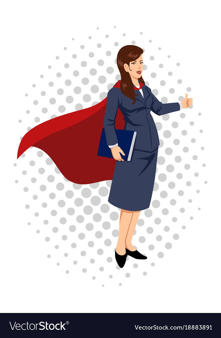 Cartoon of a super businesswoman vector image