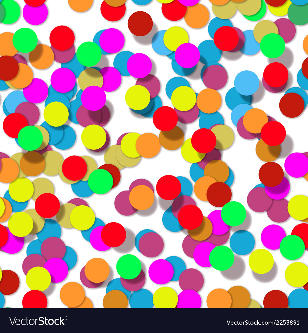 Confetti party design seamless pattern
