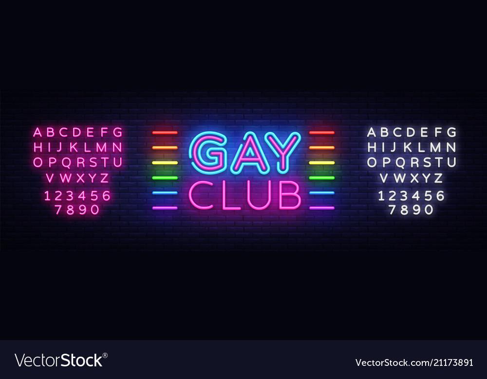 Gay club neon sign gay club design