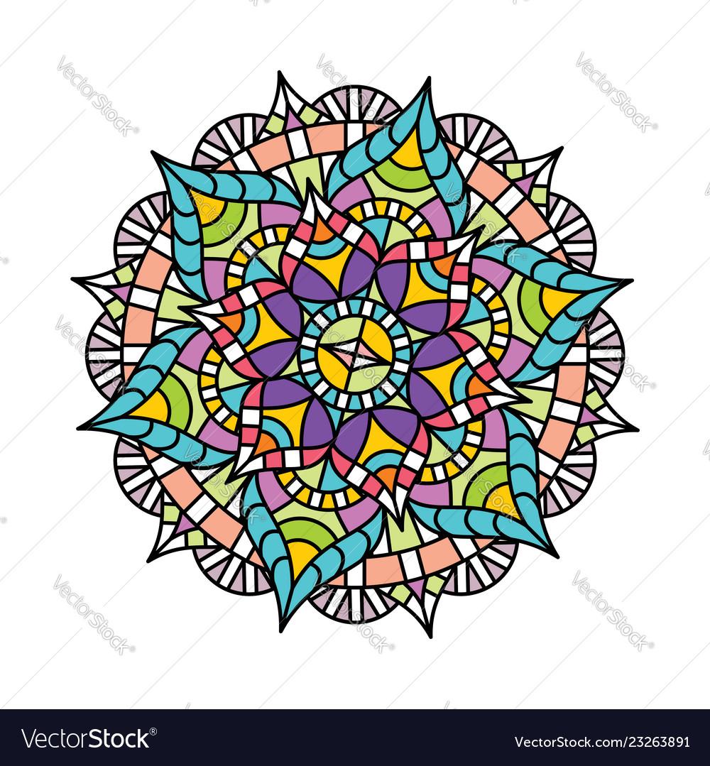 Indian flower pattern logo icon