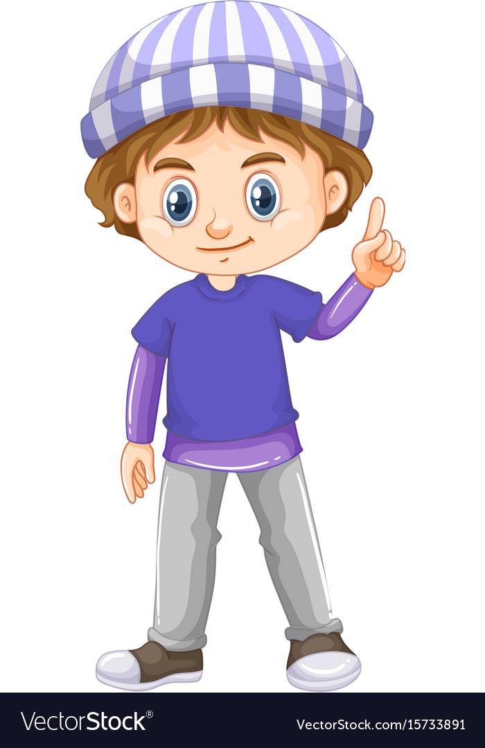 ef62d8c8304e Little boy wearing blue shirt Royalty Free Vector Image