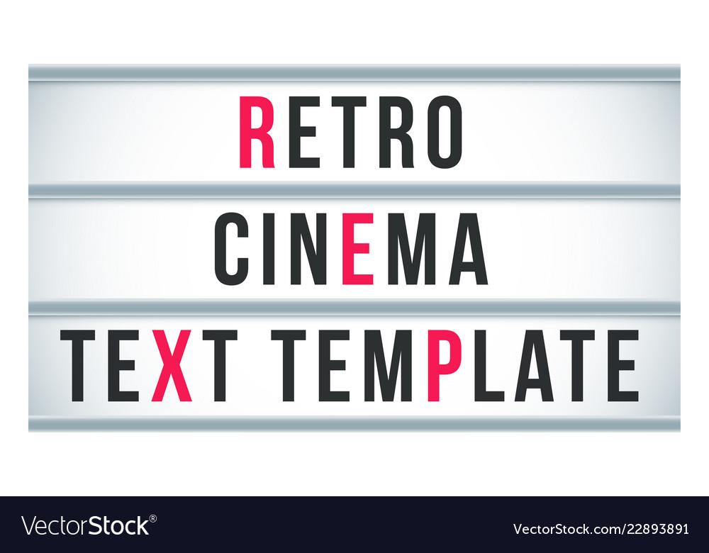 Marquee sign lightbox signage retro cinema or