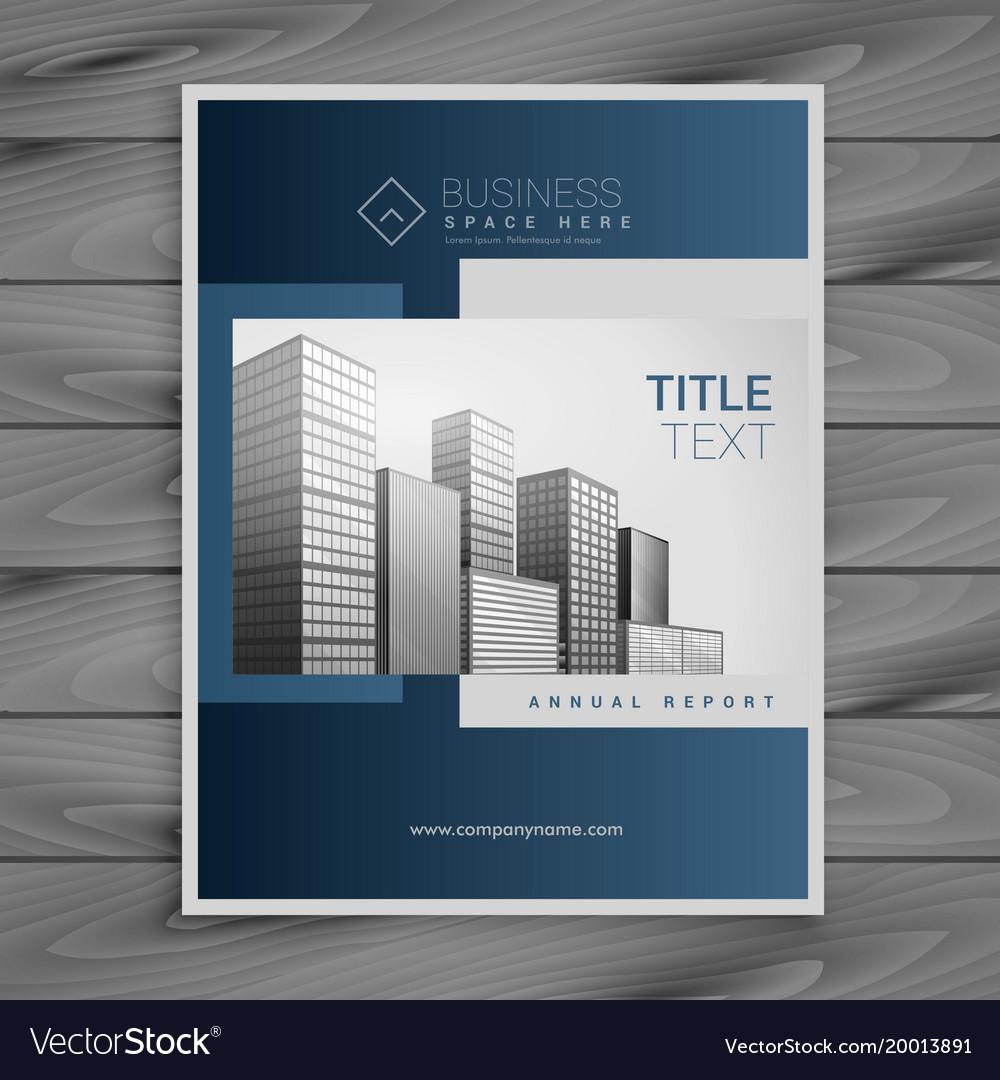 Professional Blue Company Brochure Template Design