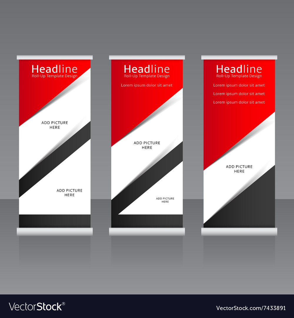roll up banners templates royalty free vector image