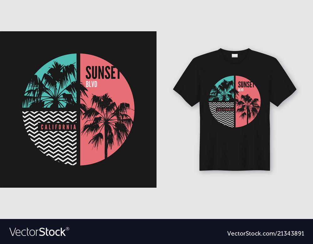 Sunset blvd california t-shirt and apparel trendy