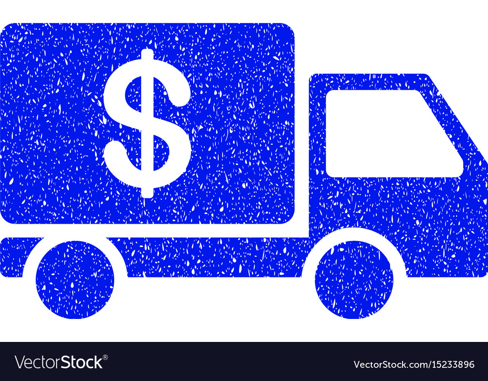 Cash delivery grunge icon vector image