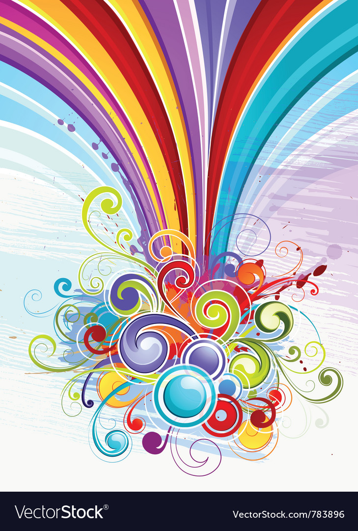 Colorful abstract designs Royalty Free Vector Image