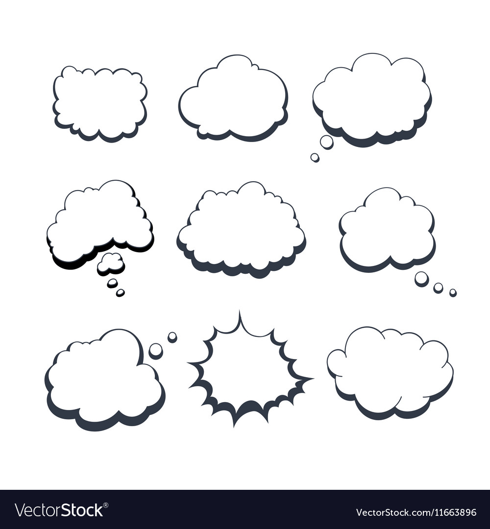 Comic Dream Bubbles vector image