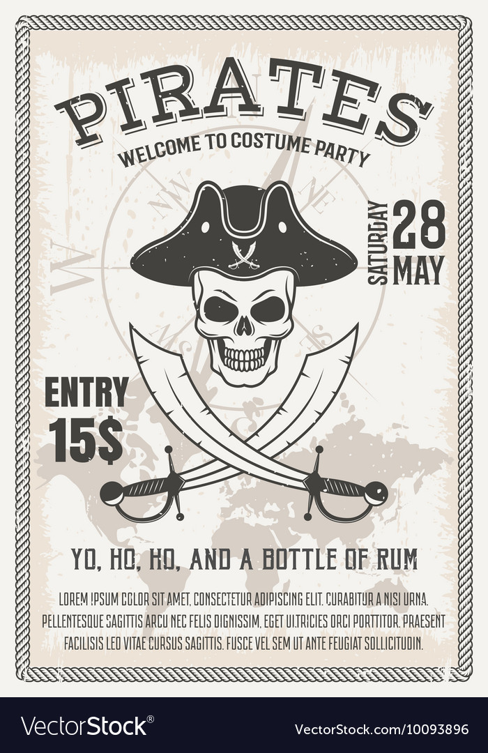 Pirates Costume Party Poster