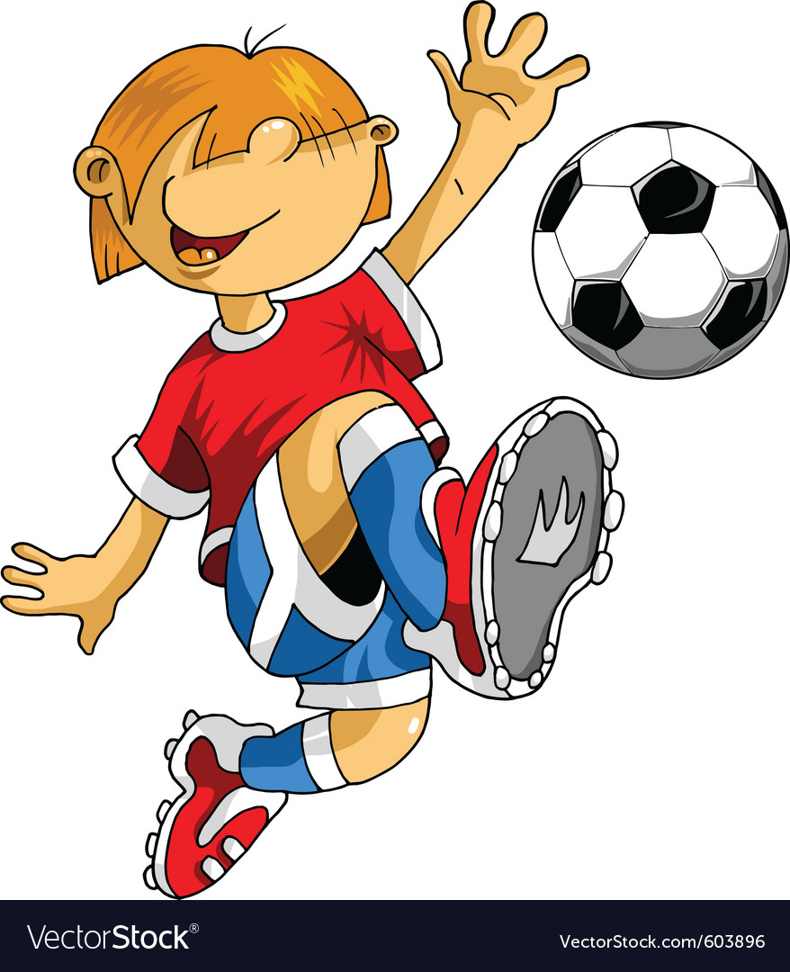 soccer cartoon royalty free vector image vectorstock