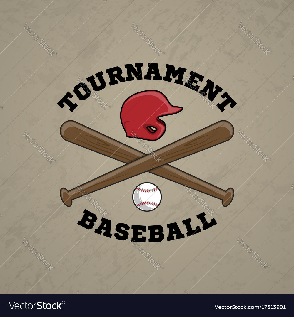 Baseball logo emblem of baseball tournament