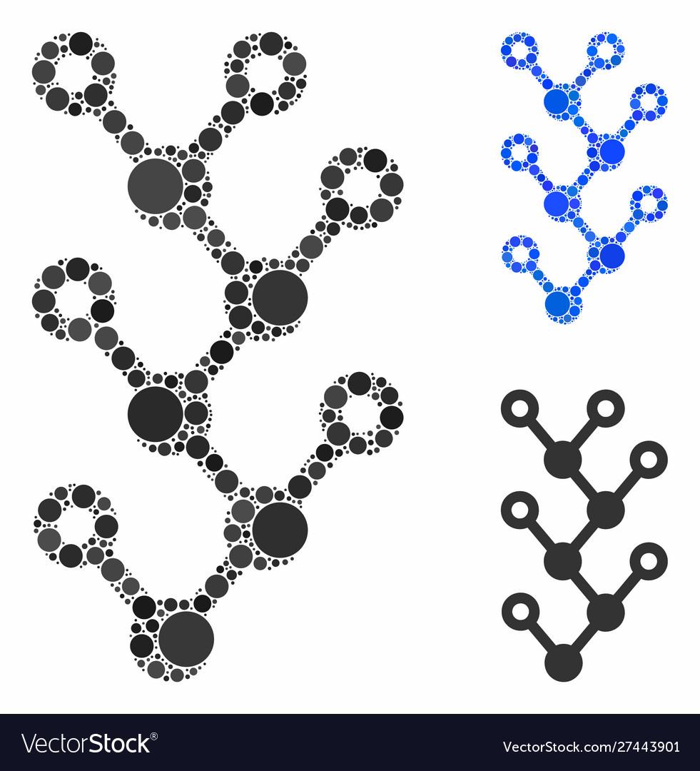Binary tree composition icon circles