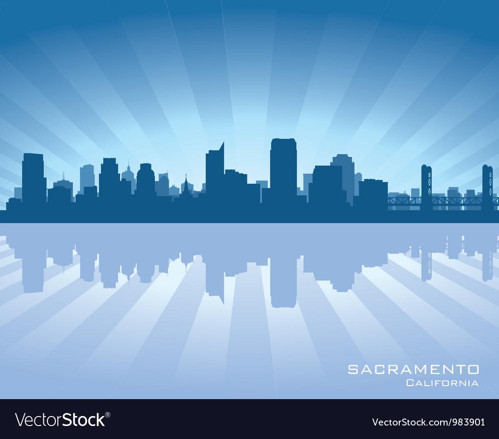 Sacramento California skyline vector image