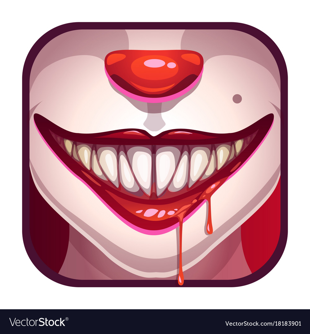 Scary Vampire Mouth With Blood Royalty Free Vector Image