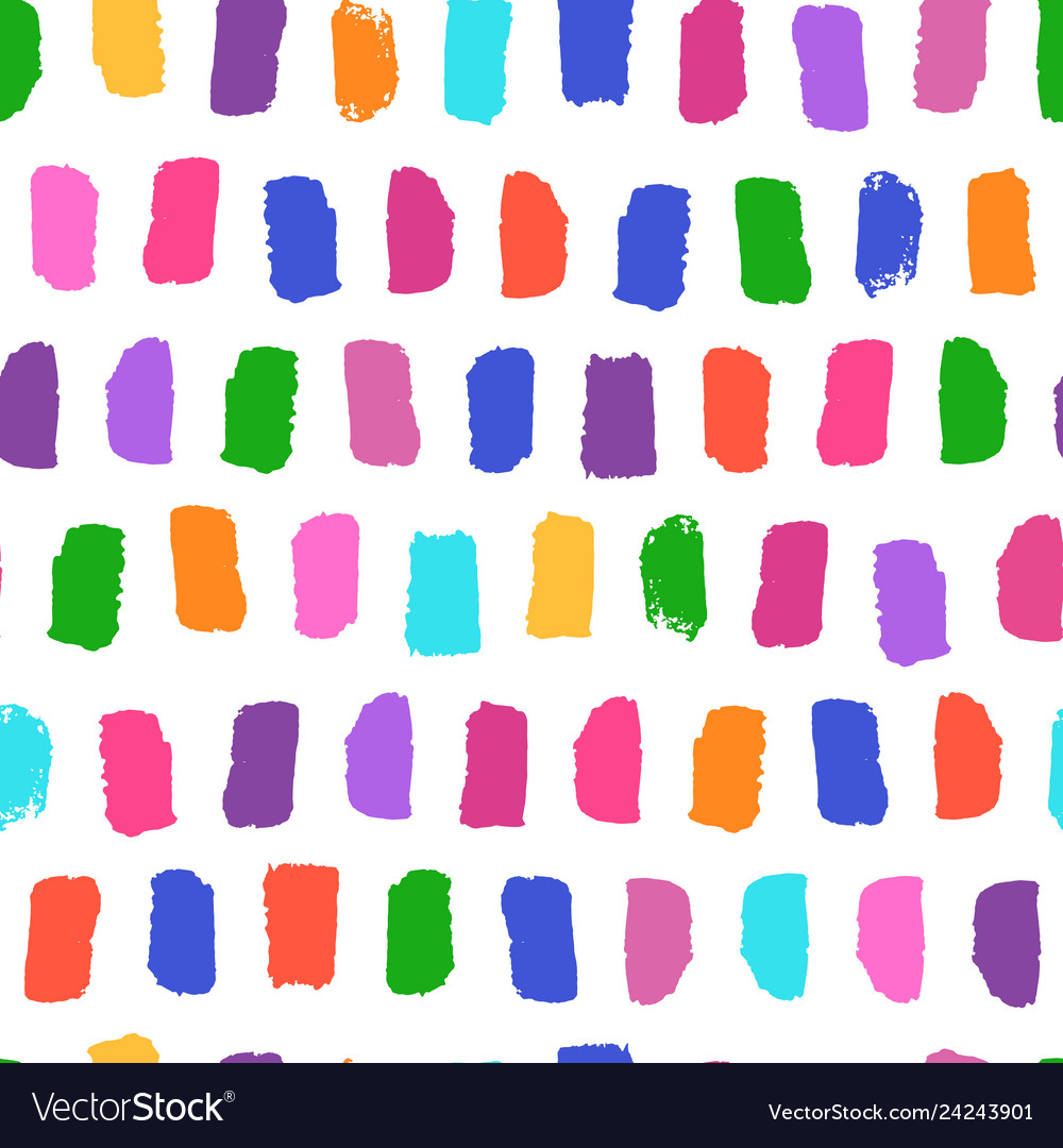 Seamless pattern with bright brushstrokes