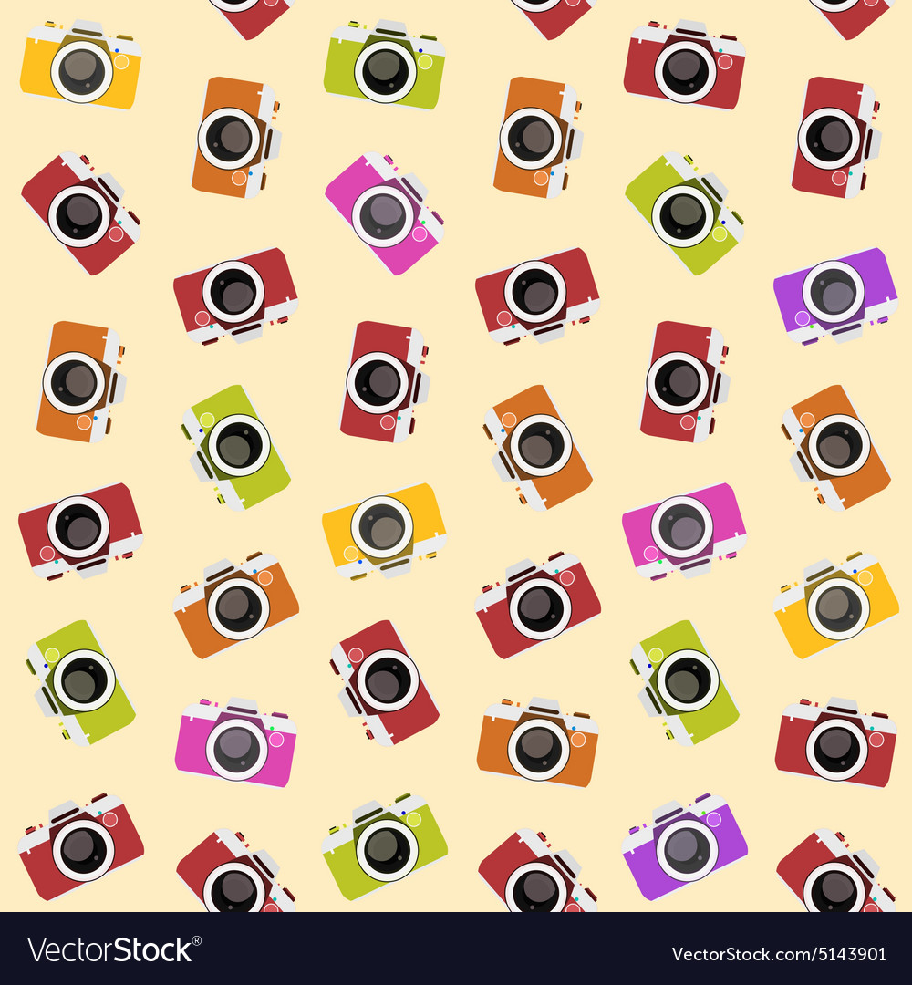 Seamless pattern with camera