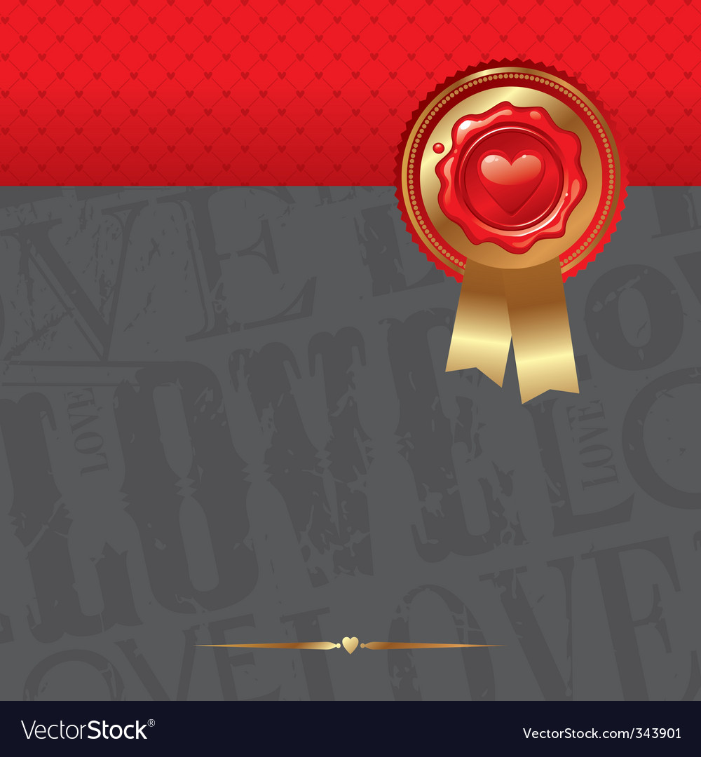 Valentines abstract design vector image
