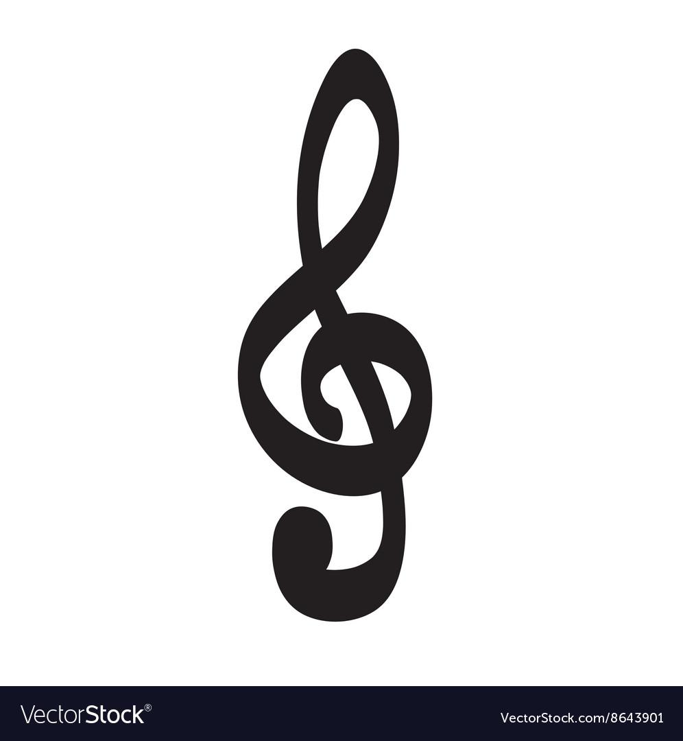 Violin key icon hand drawn icon