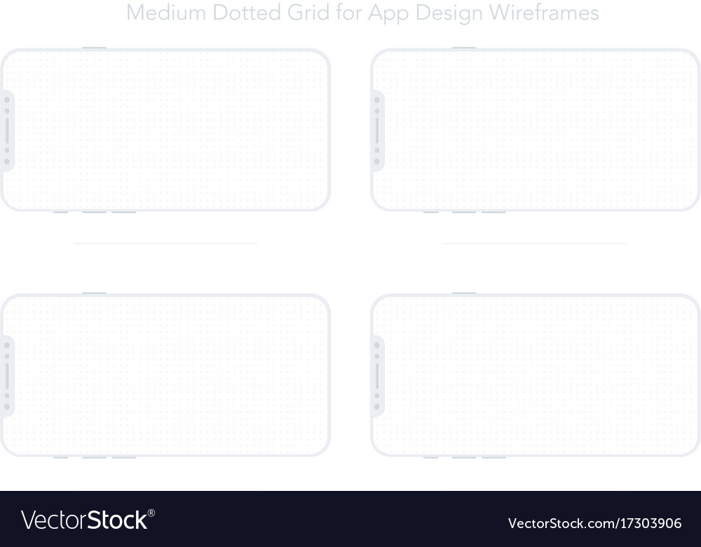 A4 dotted paper for app designs