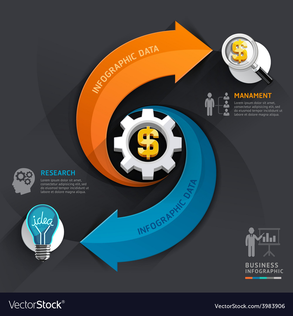 Arrow business infographics template
