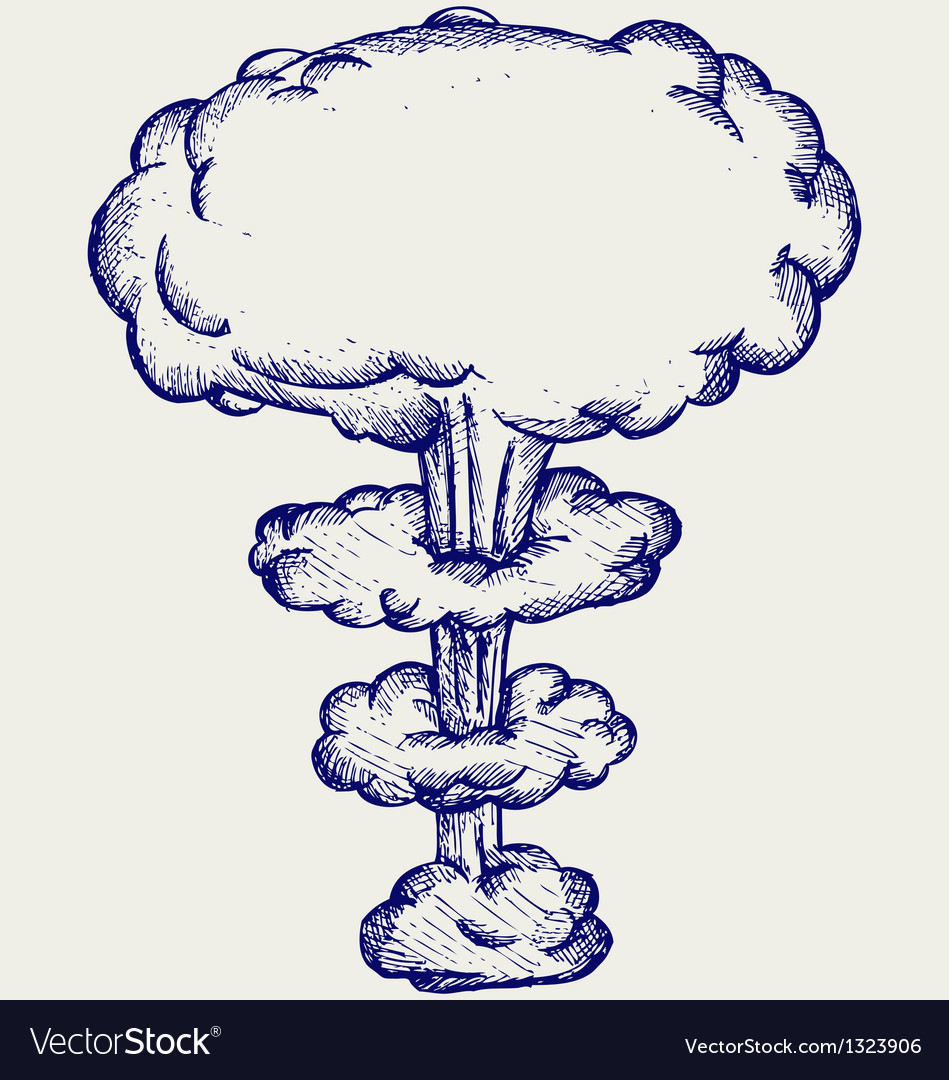 Atomic explosion vector image