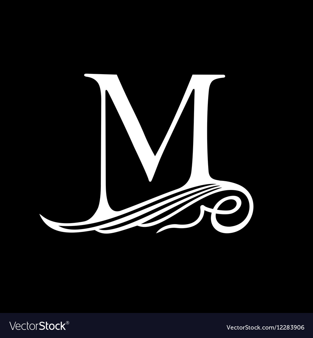 Capital Letter M for Monograms Emblems and Logos vector image