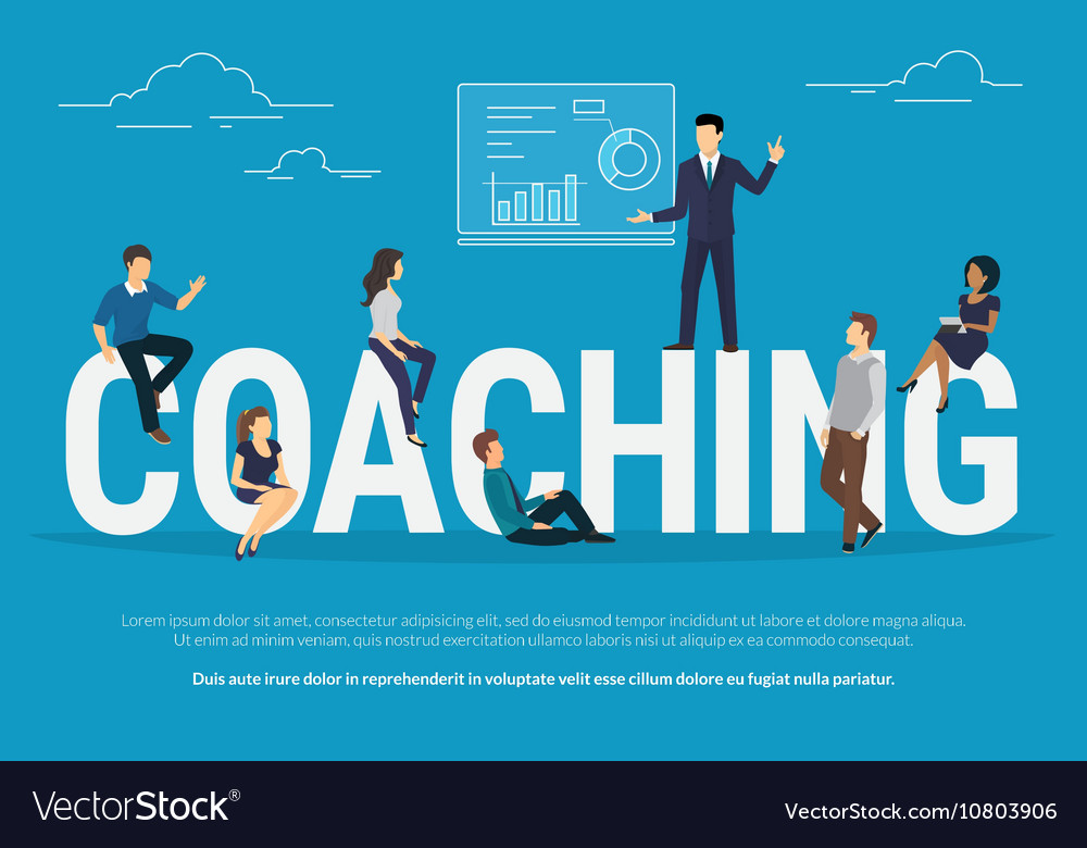 Coaching concept vector image