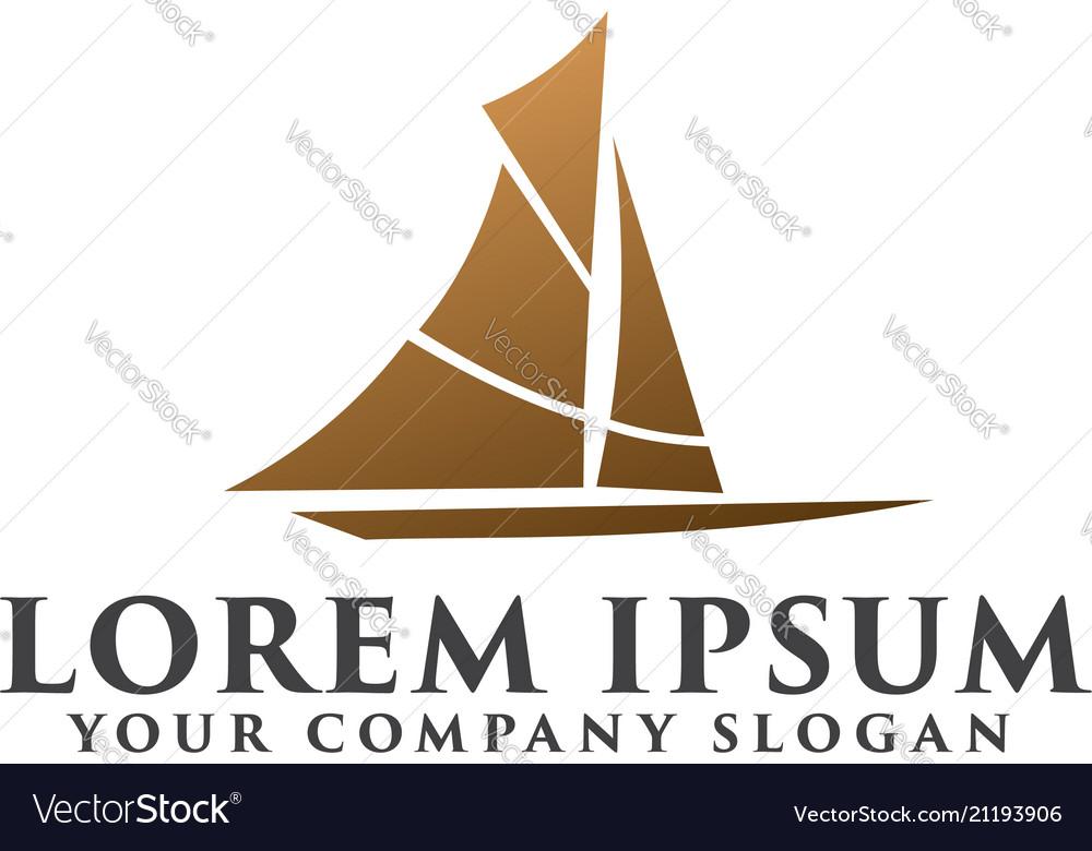 Creative ship concept logo design template design