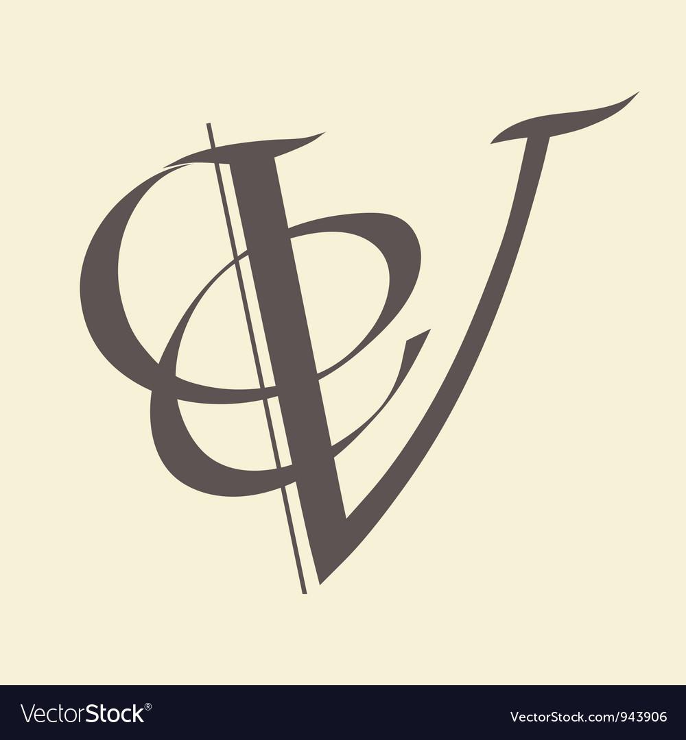 Letter V Royalty Free Vector Image Vectorstock