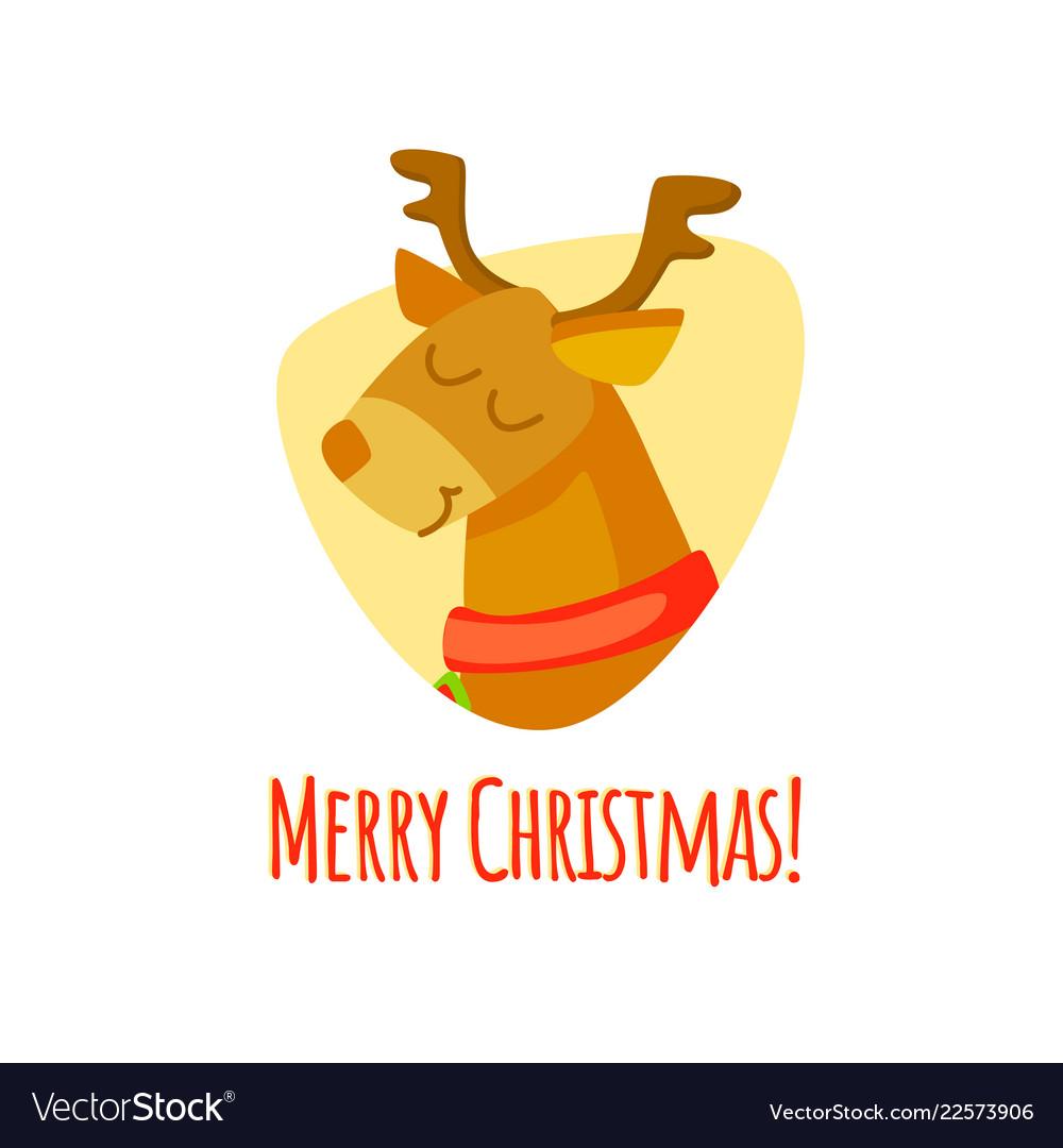 Merry christmas christmas with deer