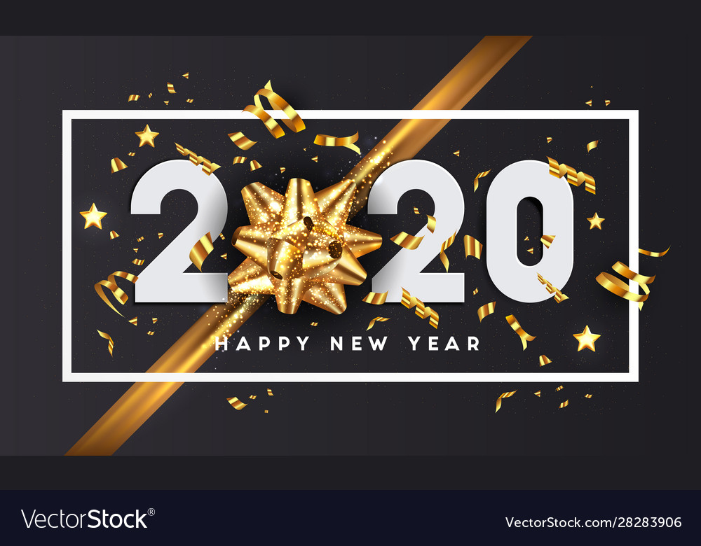 Modern greeting happy new year 2020