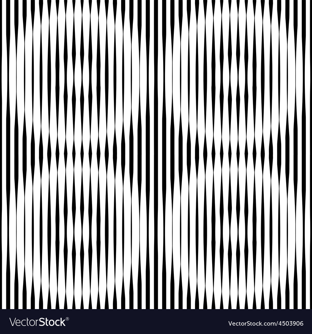 Op Art Design Striped Seamless Pattern