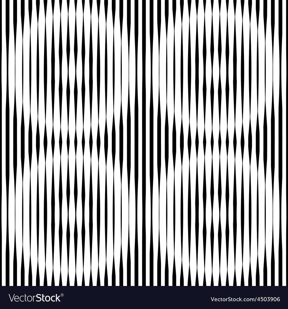 Op Art Design Striped Seamless Pattern vector image