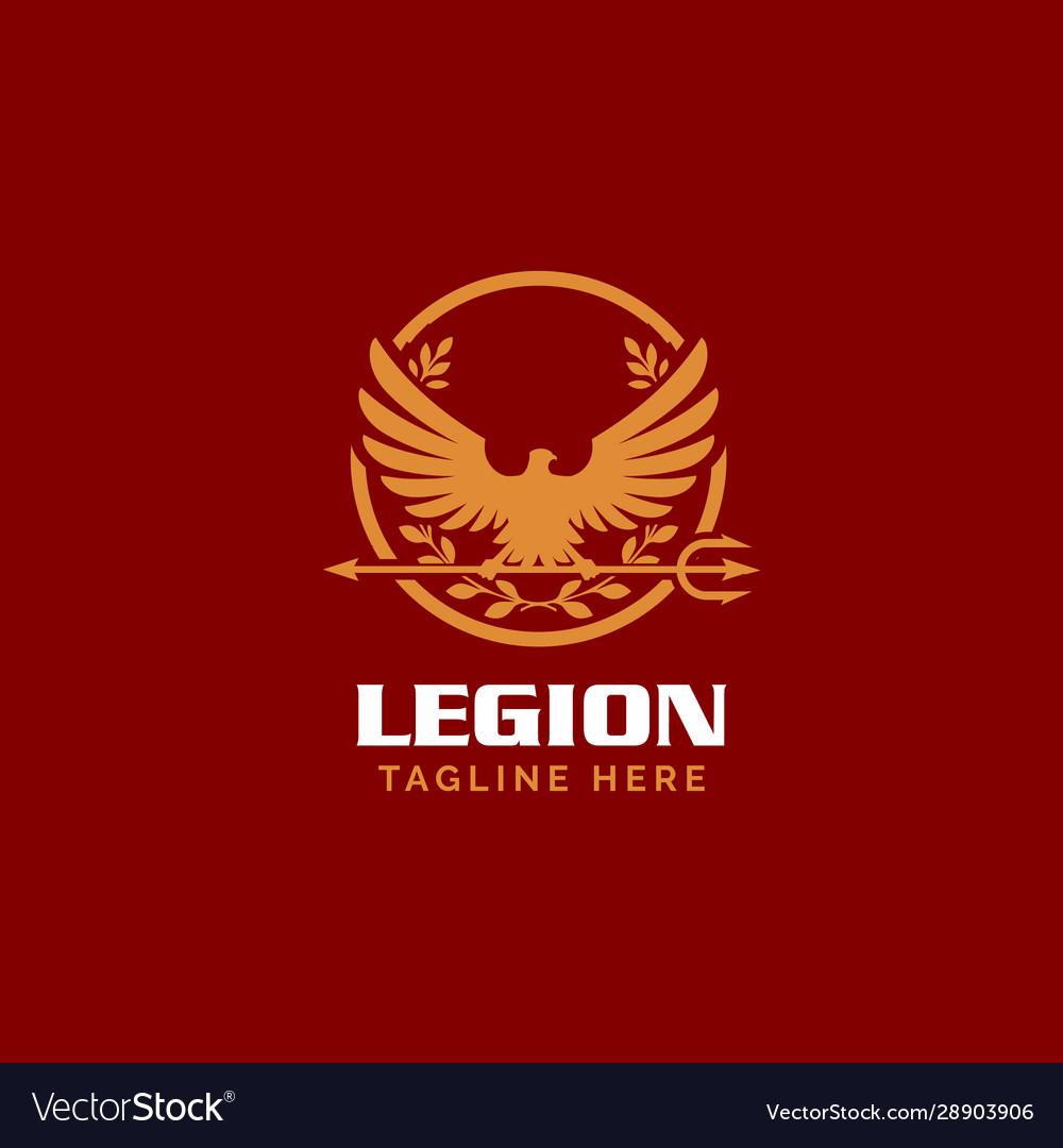 Roman legionnaire eagle symbol