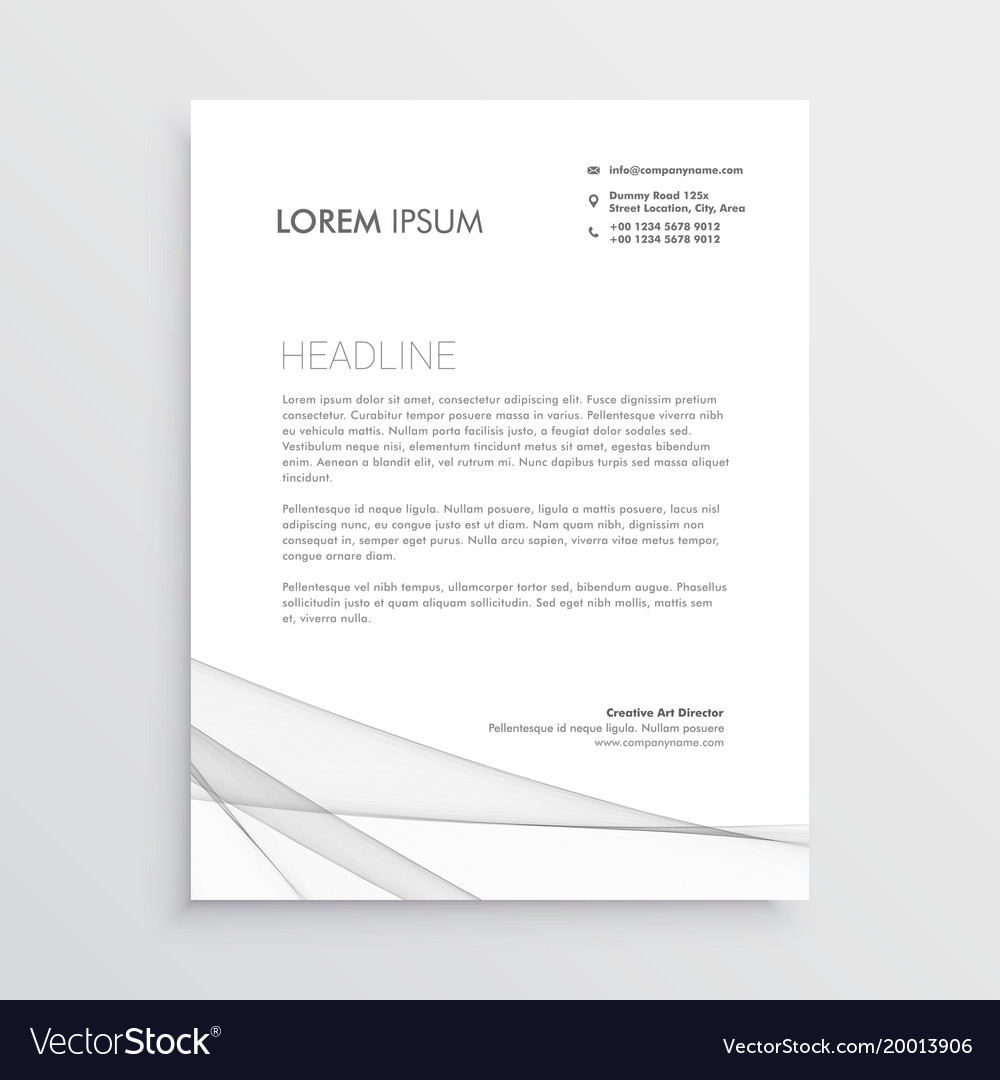 Simple letterhead design template royalty free vector image simple letterhead design template vector image spiritdancerdesigns