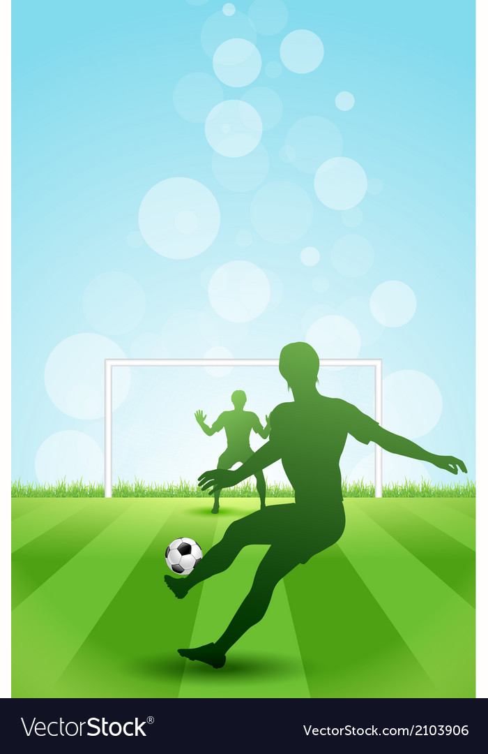 Soccer Background with two Players