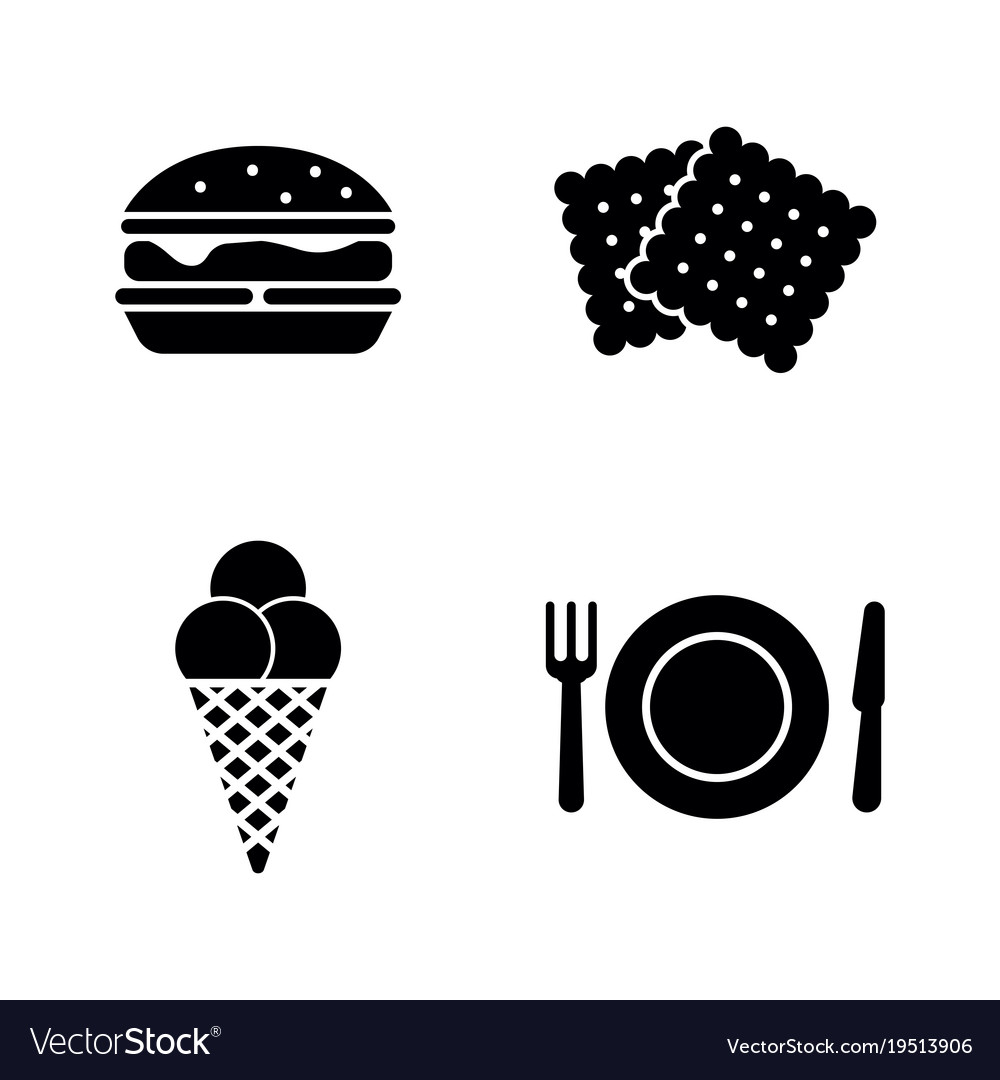 street food simple related icons royalty free vector image
