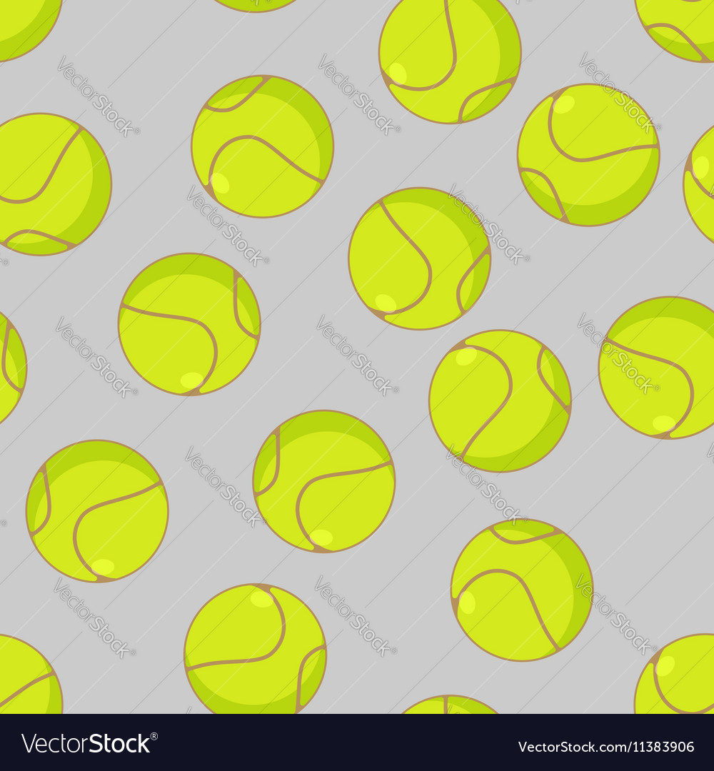 Tennis ball seamless pattern Sports accessory