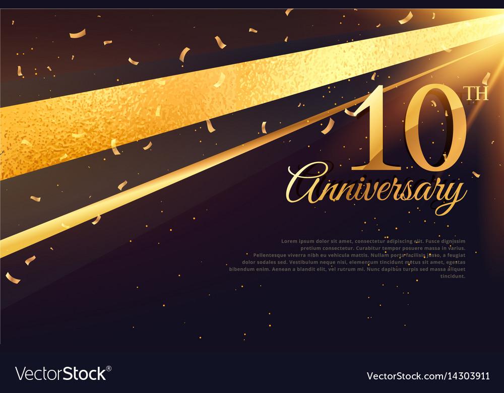 10th anniversary celebration card template