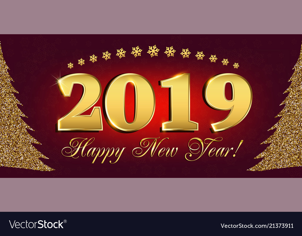 2019 happy new year flyers and greetings card or