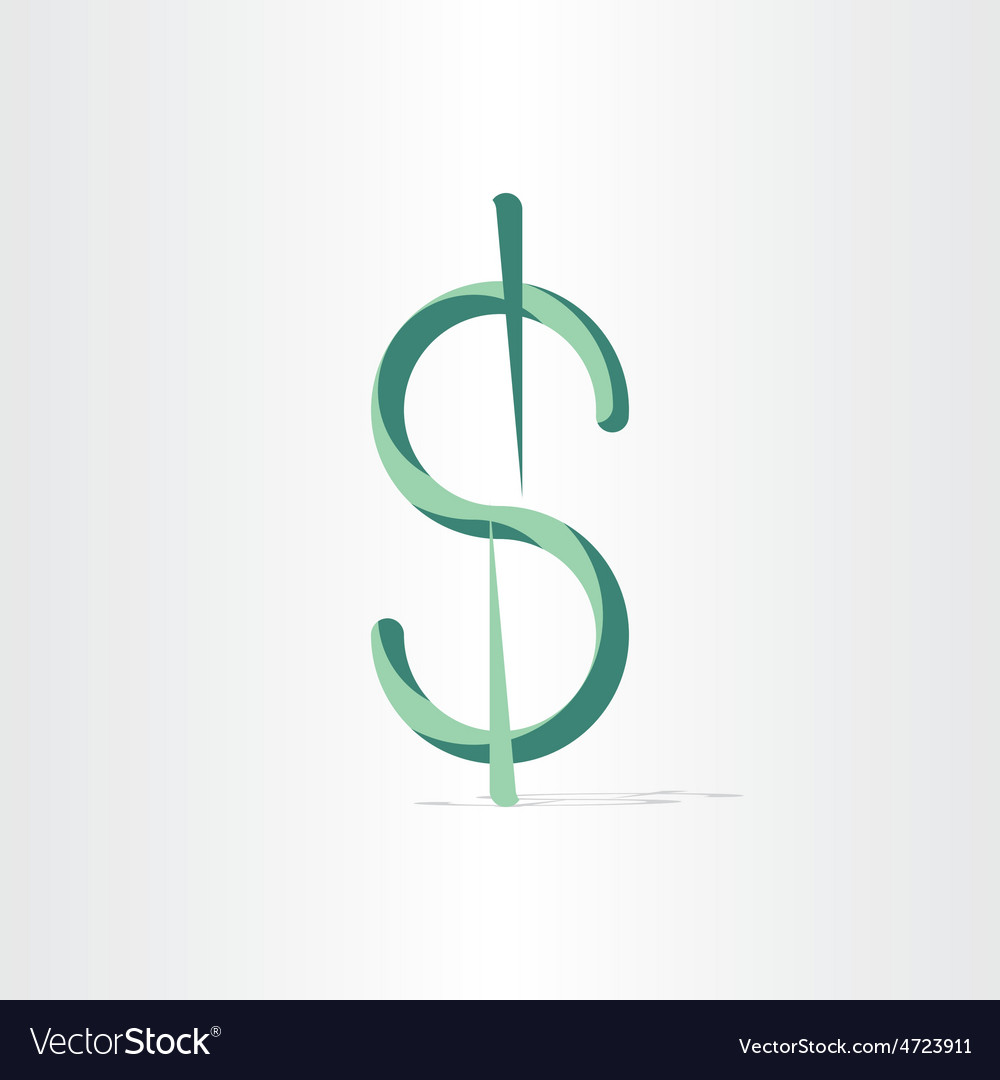 American dollar stylized money symbol