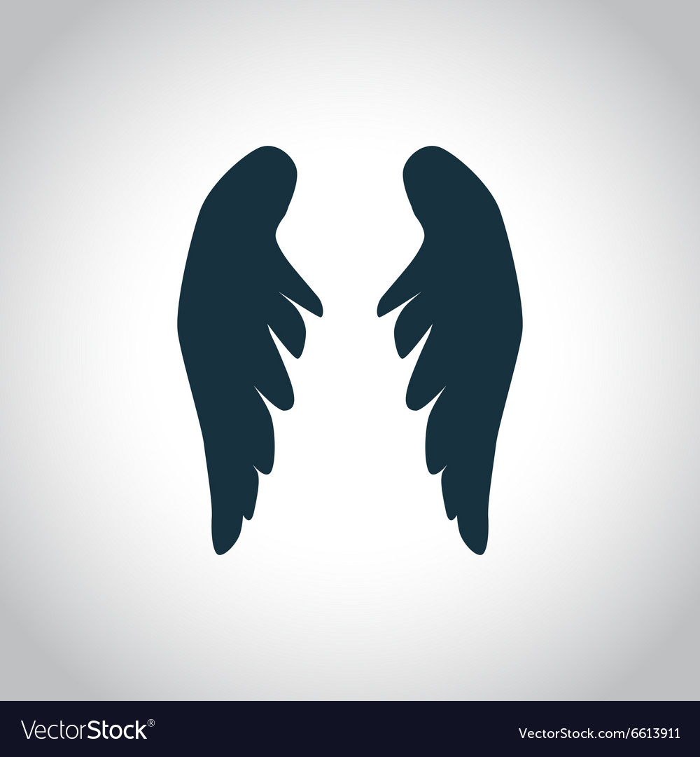Angel wings silhouette