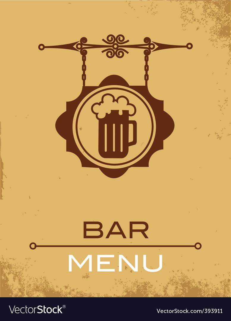 Bar menu vector image