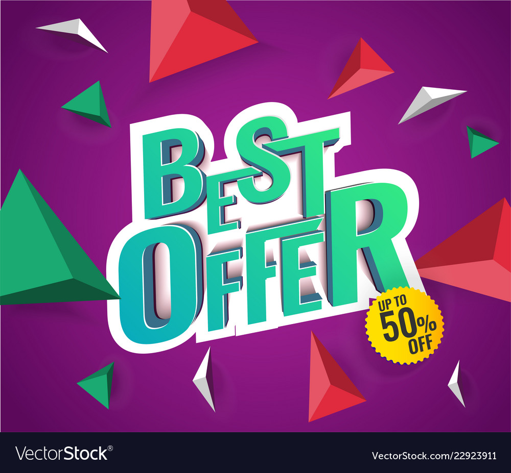 Best offer 3d text