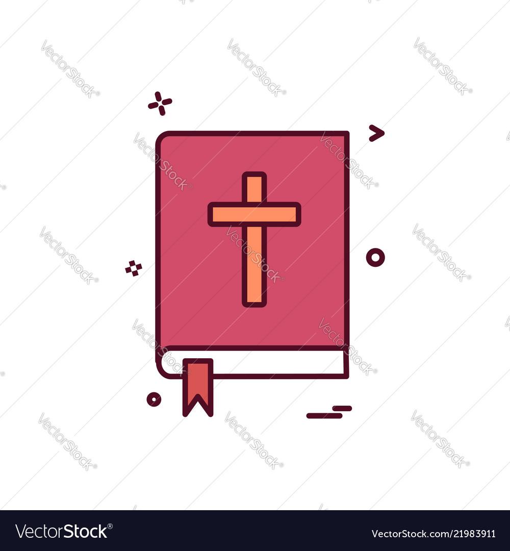 Book holy bible icon design
