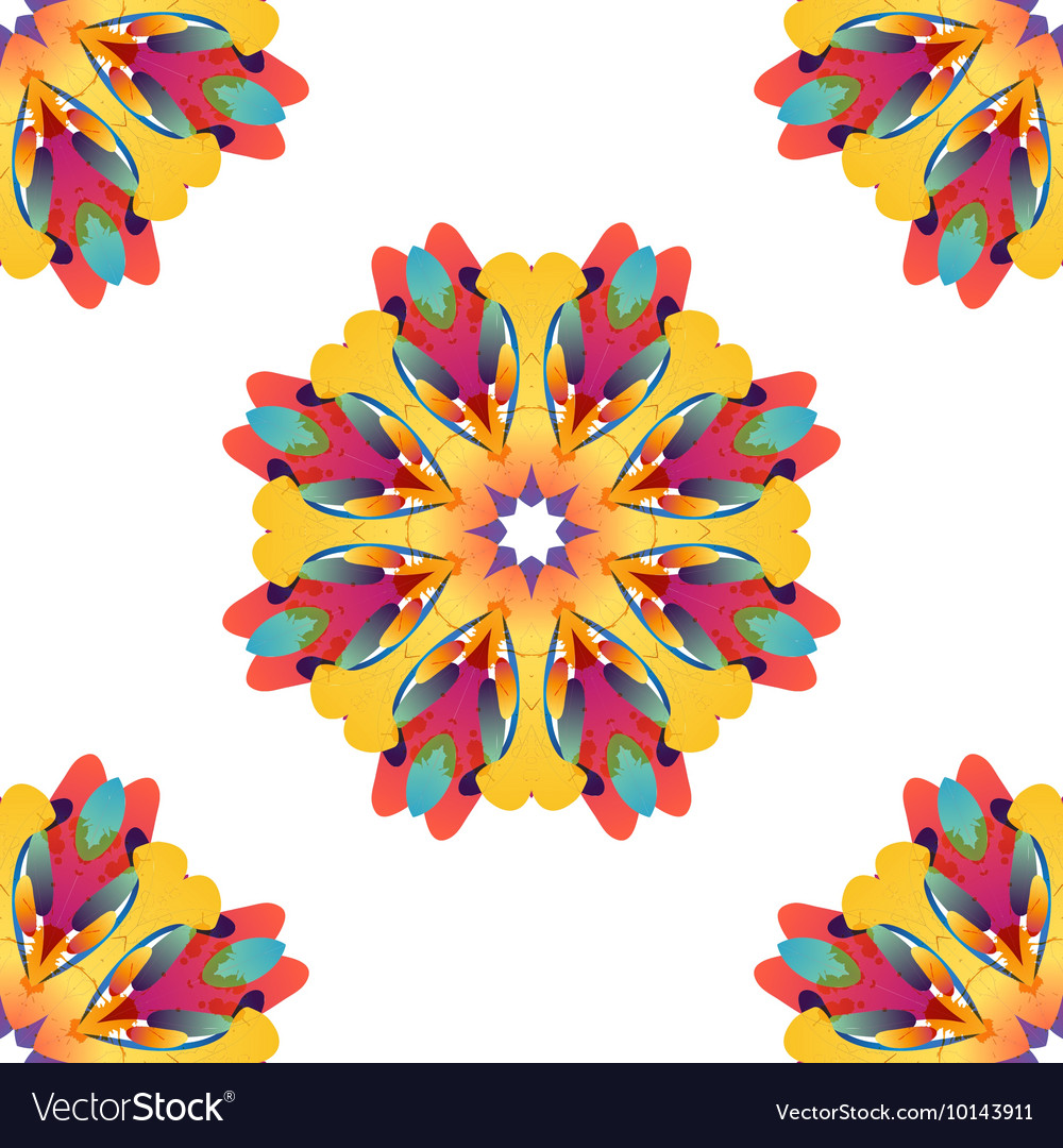 Colorful seamless pattern with free shape vector image